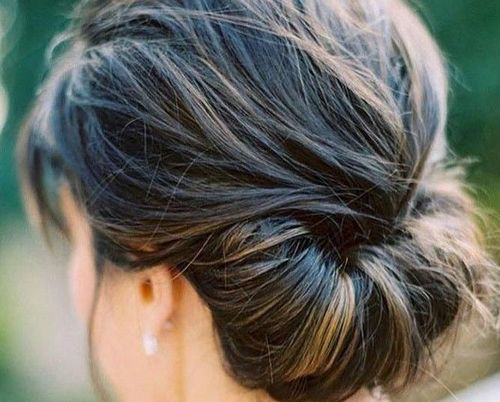 19 Rolled up chignon