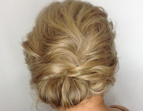 22 Messy asymmetric low chignon
