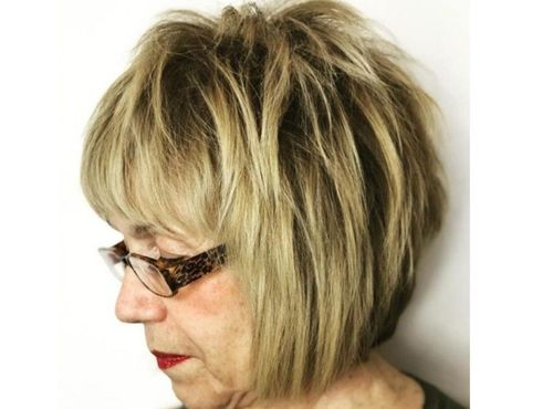 25 Layered Bob with bangs