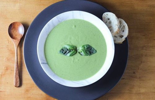 11 Green peas and basil soup