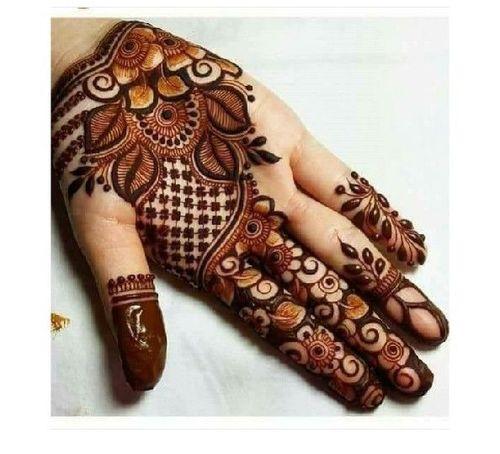 simple easy front hand modern mehndi designs full hand